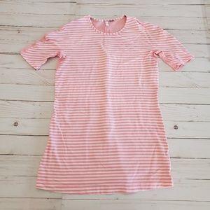 Lululemon Pink Striped Devotion Short Sleeve Tee